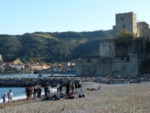 Am Strand von Collioure